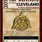 Roger S. Karp Top Cleveland Dentist Award 2015